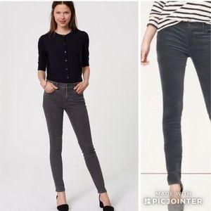 Ann Taylor LOFT Modern Skinny Charcoal Wash Jeans
